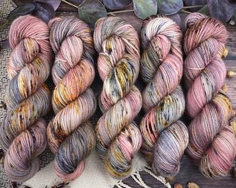 Veranda BFL DK Weight | 100% SW Blue-Faced Leicester Wool | Agate | Hand Dyed Yarn | Superwash wool
