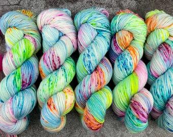 Biscotti DK Weight | 85% SW Merino Wool/15 Nylon | Party Cannon  | Pinkie Pie Collection | Hand Dyed Yarn | Superwash