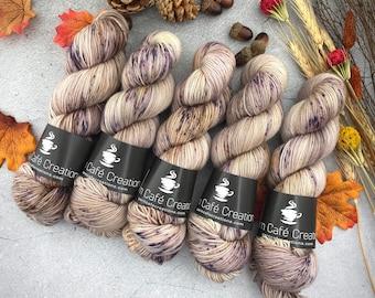 Biscotti Sock | 85/15 SW Merino/Wool Sock Weight| Café Ole | Hand Dyed Yarn | Superwash wool