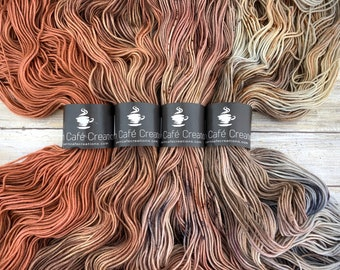 Hand-Dyed Yarn | Merino Wool | Sweater Kit | Earthy Collection: A |