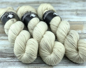 DK Weight | 100% SW Merino Wool | Eggnog | Hand Dyed Yarn