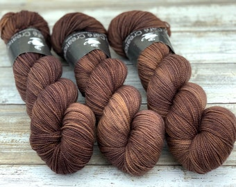 2-ply Fingering Weight | Potting Soil | Hand Dyed Yarn | Superwash Merino Wool