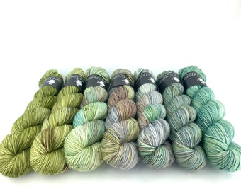 Hand-Dyed Yarn | Merino Wool | Sweater Kit | Earthy Collection: Salty |