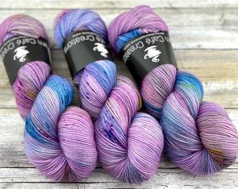 100% Merino SW Fingering Weight | Electric Pony | Hand Dyed Yarn | Superwash wool
