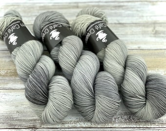 2-ply Fingering Weight | Oatmeal | Hand Dyed Yarn | Superwash Merino Wool