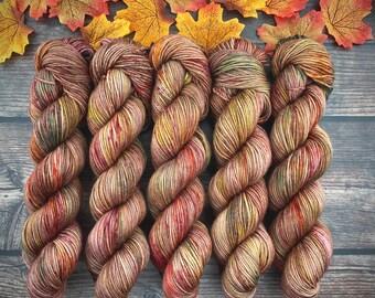 Americano DK Weight | 100% SW Merino Wool | Sassafras | Hand Dyed Yarn | Superwash wool