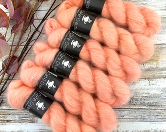 Grapefruit | Mohair Silk | Hand Dyed Yarn