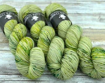 DK Weight | 75/25 SW Merino/Nylon | Lily Pad | Hand Dyed Yarn | Superwash wool