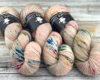 85/15 SW Merino/Wool Sock Weight| Peach Blossom | Hand Dyed Yarn | Superwash wool
