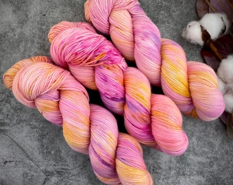 Fingering Weight | Raspberry Torte | Hand Dyed Yarn | Non-Superwash Merino Wool