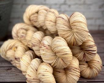 Americano DK Weight | 100% SW Merino Wool | Acorn | Hand Dyed Yarn | Superwash wool
