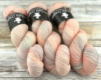 Polwarth Fingering Weight | Peaches and Cream | Hand Dyed Yarn | Superwash Polwarth