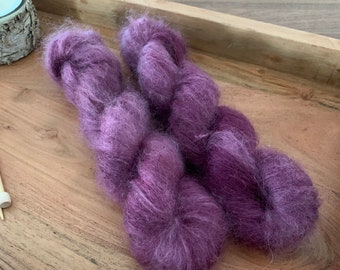 Fig | Mohair Mulberry Silk | Hand Dyed Yarn