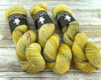 Polwarth Fingering Weight | Harvest Moon | Hand Dyed Yarn | Superwash Polwarth