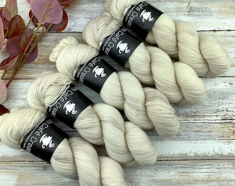 Fingering Weight | Eggnog | Non-Superwash Merino Wool | Hand-Dyed Yarn