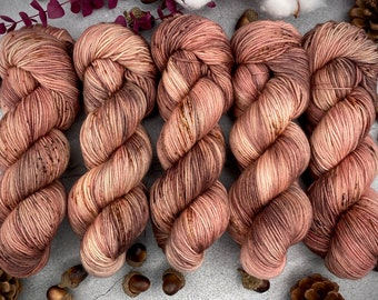 Biscotti Sock   85/15 SW Merino/Wool Sock Weight  PLATEAU   Hand Dyed Yarn   Superwash wool