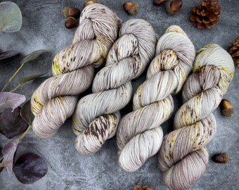 Biscotti Sock | 85/15 SW Merino/Wool Sock Weight| Cinnamon Roll | Hand Dyed Yarn | Superwash wool
