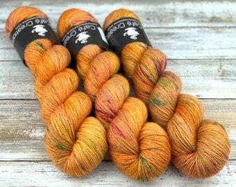 Bronze Stellina | Phoenix | Hand Dyed Yarn | Superwash wool
