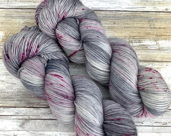 Hand-Dyed Yarn | Merino Wool | Going Gray Collection | Watermelon