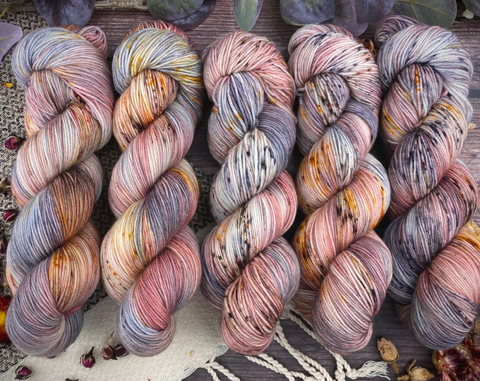 Featured listing image: 100% Merino SW Fingering Weight | Agate | Hand Dyed Yarn | Superwash wool