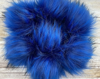 Royal | Pom Pom | Snap on Pom Pom | Faux Fur Pompom