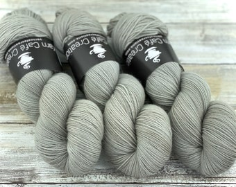Fingering Weight | Oatmeal | Hand Dyed Yarn | Non-Superwash Merino Wool