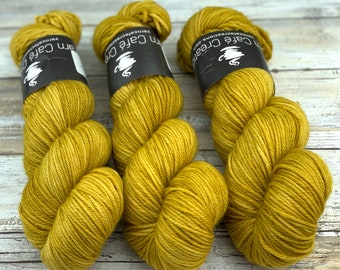 Worsted Weight   Ginger   Hand Dyed Yarn   Superwash wool