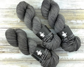 Aran Weight  | Coffee | Hand Dyed Yarn | Superwash Merino Wool
