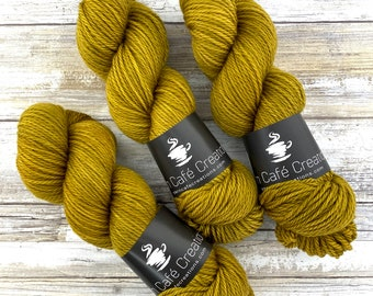 Aran Weight  | Dijon | Hand Dyed Yarn | Superwash Merino Wool