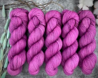 Biscotti Sock   85/15 SW Merino/Wool Sock Weight  Mischief   Hand Dyed Yarn   Superwash wool