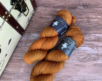 Hand-Dyed Yarn | Merino Wool | Roasted Pumpkin