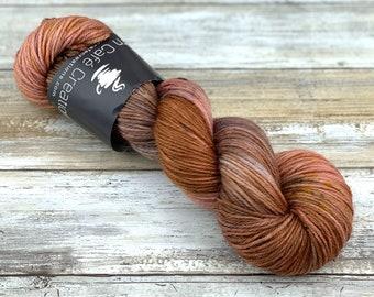 DK Weight Wool/Nylon Blend | Henna | Hand Dyed Yarn | Superwash Wool