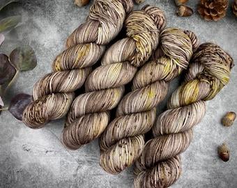 Biscotti DK Weight   85% SW Merino Wool/15 Nylon   Hot Fudge Brownie   Hand Dyed Yarn   Superwash