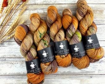 Biscotti Sock | 85/15 SW Merino/Wool Sock Weight| Butter Cookie | Hand Dyed Yarn | Superwash wool