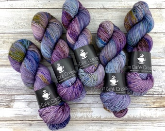 100% Merino SW Fingering Weight | Pegasus Glitter | Hand Dyed Yarn | Superwash wool