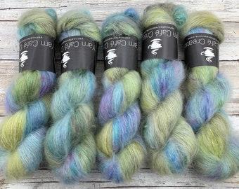 Sky Dancer | Hand Dyed Yarn | Mohair Silk