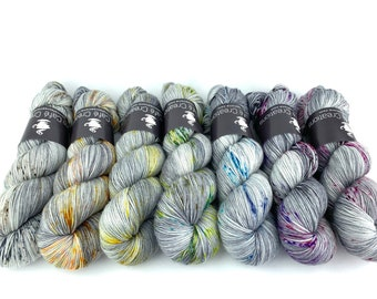 Hand-Dyed Yarn | Merino Wool | Complete Going Gray Collection