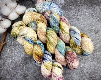 Merino/Linen Blend SW Fingering Weight | Orchard | Hand Dyed Yarn | Superwash wool