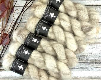 Eggnog | Mohair Silk | Hand Dyed Yarn