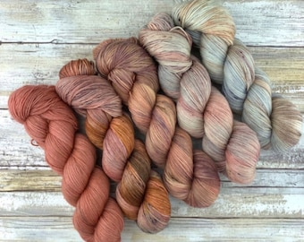 Earthy Fade Kit | MANICURE | Superwash Merino Wool | Five Skein Kit