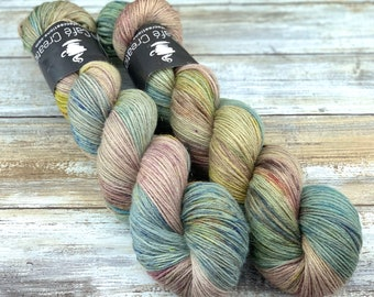 Silver Stellina | Orchard | Hand Dyed Yarn | Superwash wool