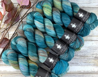 Abalone | Hand Dyed Yarn | Superwash wool | 75/25 Merino/Nylon Fingering Weight