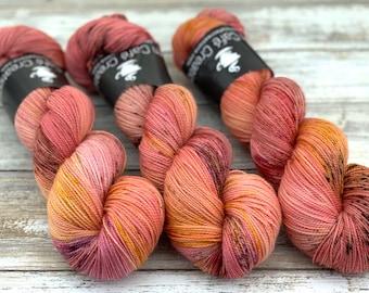 2-ply Fingering Weight | Honeycrisp | Hand Dyed Yarn | Superwash Merino Wool