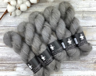 Coffee | Mohair Lace | Hand Dyed Yarn