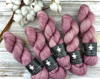 Merino/Mohair Blend SW Fingering Weight | Chantilly Lace | Hand Dyed Yarn | Superwash wool