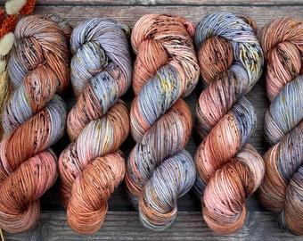 100% Merino SW Fingering Weight | Henna | Hand Dyed Yarn | Superwash wool