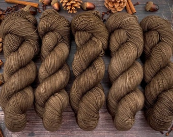 Espresso Fingering 100% Merino SW | ALLSPICE | Hand Dyed Yarn | Superwash wool