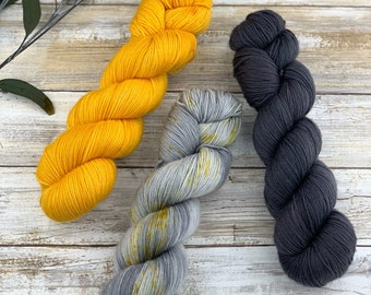 STUDIO 54 SHAWL KIT Size A | Set F | Hand-Dyed Yarn