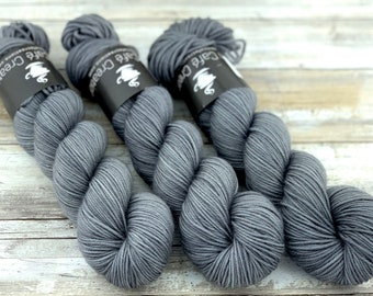 DK Weight | 100% SW Merino Wool | Pepper | Hand Dyed Yarn | Superwash wool