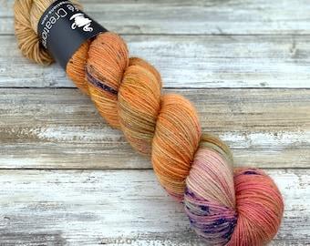 Silver Stellina | Heresy | Hand Dyed Yarn | Superwash wool